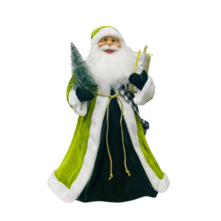60CMH STANDING SANTA IN GREEN WHITE