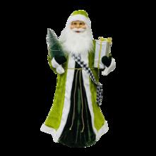 90CMH STANDING SANTA IN GREEN WHITE