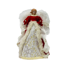 35CMH TREE TOP ANGEL IN RED WHITE
