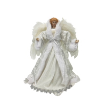 35CMH TREE TOP ANGEL IN WHITE SILVER