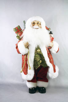 13CMH SANTA HANGING ORNAMENT IN RED/GOLD