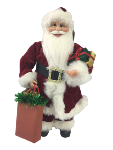 90CM STANDING SANTA IN RED WITH SHOPPING BAGS