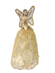 25.5CMH TREE TOP ANGEL IN GOLD