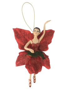 18CM GARDEN FAIRY IN RED