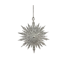 SILVER POINTY SNOWFLAKE HANGER (6)