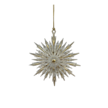 GOLD POINTY SNOWFLAKE HANGER (6)
