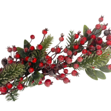 FROSTED BERRY/PINE/LEAF GARLAND