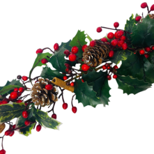 HOLLY/BERRY/NUT GARLAND