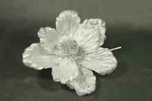 SILVER / WHITE FLOWER (12)