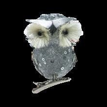 CUTE LITTLE SILVER OWL (12)