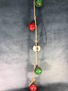 130CML RED/WHITE/GREEN BELLS GARLAND