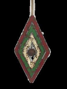 AGED METAL DIAMOND WIND SPINNER