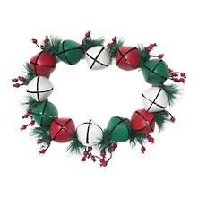 RED/GREEN/WHITE METAL BELL WREATH