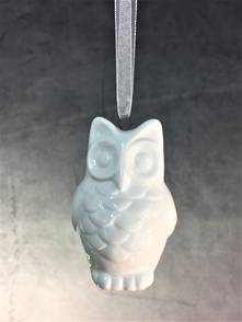 HANGING CERAMIC OWL (12)