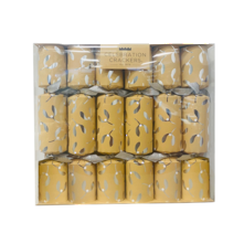 BOX6, 33CM SILVER MISTLETOE CRACKER (6)