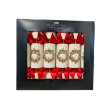 BOX6, 33CM DELUXE NATURAL WREATH CRACKERS (6)