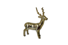 GOLD CERAMIC STANDING DEER