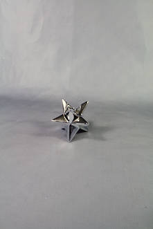 6CMH 3D SILVER PLATED STAR TAPER CANDLE HOLDER (6)