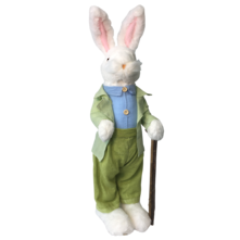 56CMH WHITE BUNNY GREEN SUIT STANDING WITH CANE