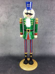 GREEN METAL NUTCRACKER