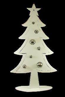 100CMH METAL WHITE CHRISTMAS TREE