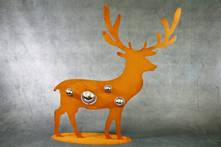 60CMH RUST METAL DEER
