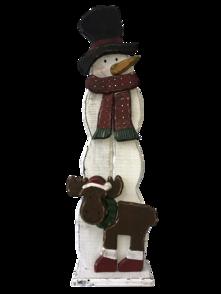 RUSTIC WOOD SNOWMAN