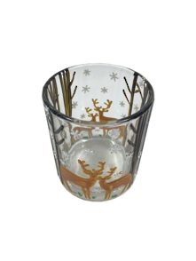 LARGE DEER AND TREE CANDLE HOLDER (6)