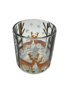 SMALL DEER AND TREE VOTIVE HOLDER (6)