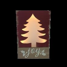 TREE 'JOY' LIGHT UP BOX