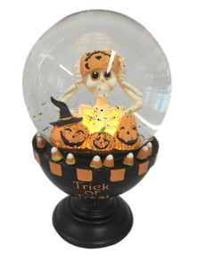 TRICK OR TREAT PUMPKIN LIGHT UP  SNOWGLOBE
