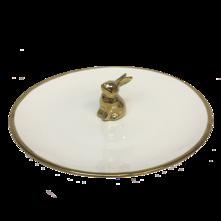 25CMD GOLD RIMMED RABBIT PLATE