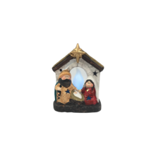 STABLE NATIVITY LED WITH FIRE