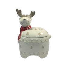 CERAMIC REINDEER BISCUIT BARREL