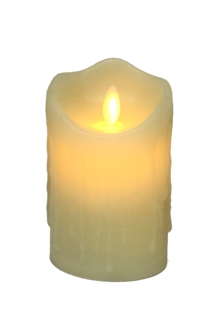 12CMH LARGE CREAM LED WAX CANDLE (6)