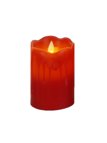 12CMH LARGE RED LED WAX CANDLE (6)