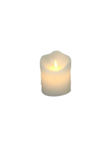 10CMH WHITE WAX BATTERY CANDLE