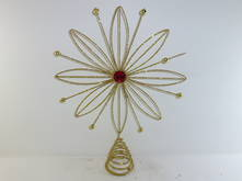GOLD WIRE SUNFLOWER TREE TOPPER (6)