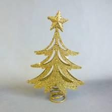 22CMH GOLD GLITTER TREE, TREE TOPPER (6)