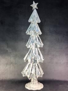 80CMH WHITE/SILVER METAL TREE