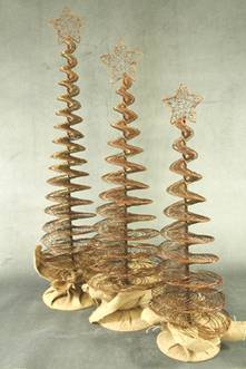 60CMH WIRE SPIRAL TREE