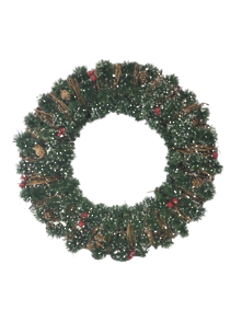40CMD FROSTED NATURAL WREATH