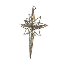 LARGE GOLD HANGING STAR OF DAVID LED