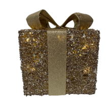 20CMD CHAMPAGE GOLD COTTON GIFTBOX WITH LIGHT