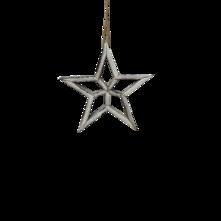 20CMD WHITE WOODEN STAR HANGING
