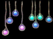 8 LED LARGE COLOUR CHANGING HANGING BALLS