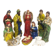 RUSTIC CERAMIC 10PCE NATIVITY SET