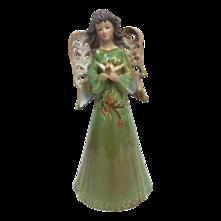 31CMH RUSTIC CERAMIC GREEN ANGEL