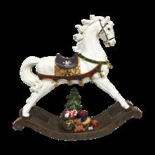 WHITE RESIN ROCKING HORSE