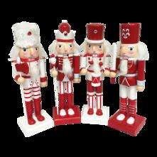 SET4 25CMH RED/WHITE NUTCRACKERS